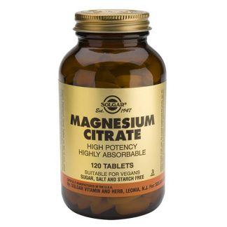 Citrato de Magnesio Solgar - 120 comprimidos