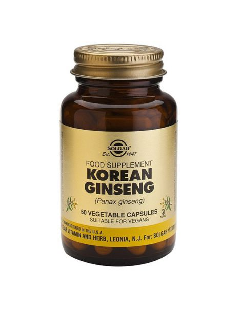 Ginseng Coreano Solgar - 50 cápsulas