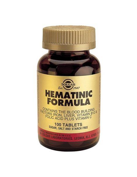 Fórmula Hematínica Solgar - 100 comprimidos