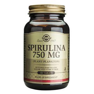 Espirulina Solgar - 100 comprimidos
