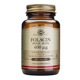 Folacín (Ácido Fólico) Solgar - 250 comprimidos