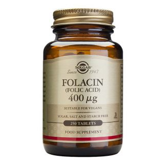 Folacín (Ácido Fólico) Solgar - 100 comprimidos
