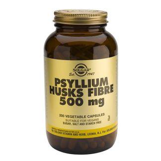 Fibra de Cáscaras de Psyllium Solgar - 200 cápsulas
