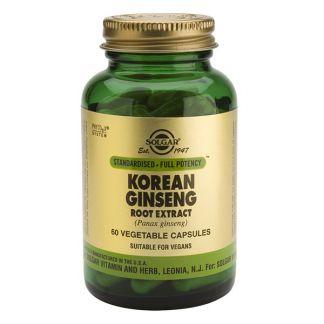 Ginseng Coreano Extracto de Raíz Solgar - 60 cápsulas