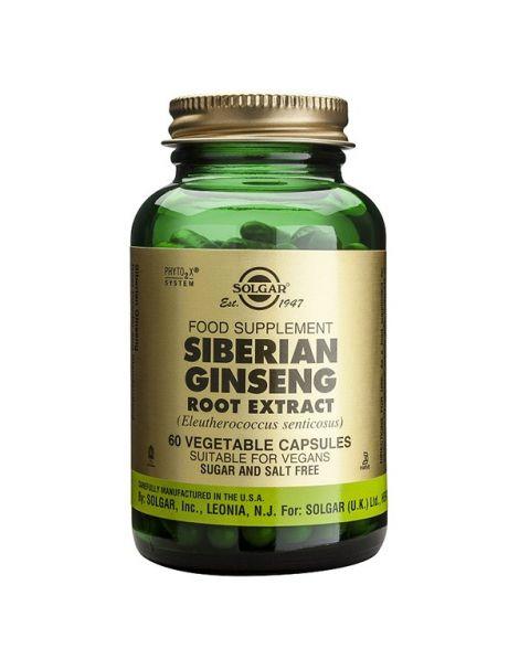 Ginseng Siberiano Extracto de Raíz Solgar - 60 cápsulas