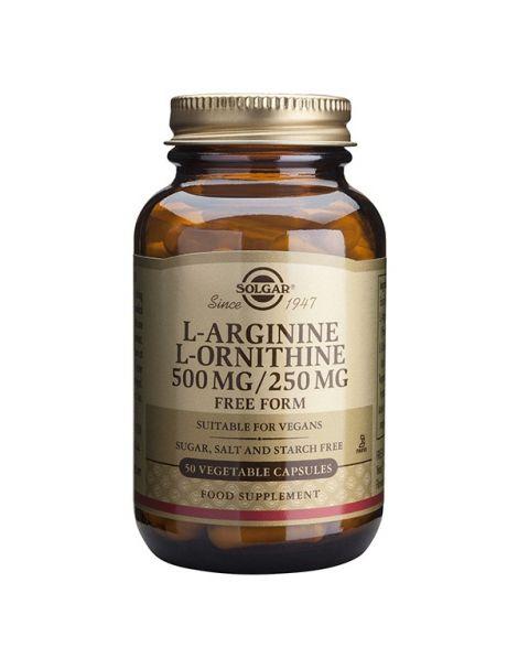 L-Arginina / L-Ornitina Solgar - 50 cápsulas