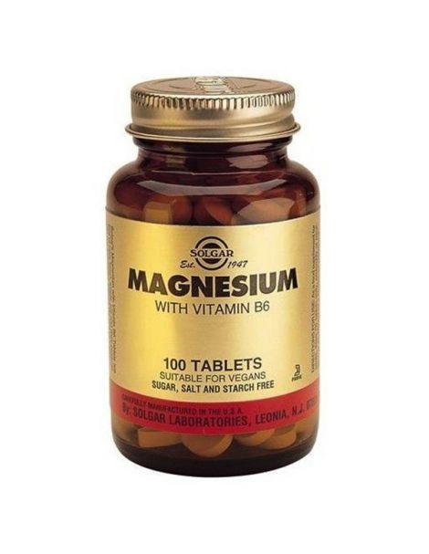 Magnesio con Vitamina B6 Solgar - 100 comprimidos