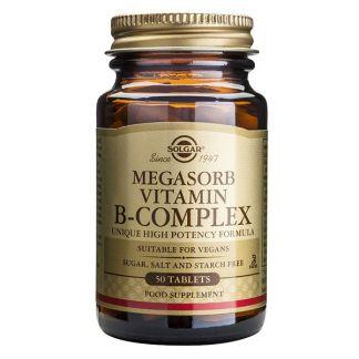 Megasorb B-Complex Solgar - 100 comprimidos