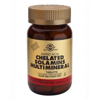 Solamins Multiminerales Quelados Solgar - 180 comprimidos