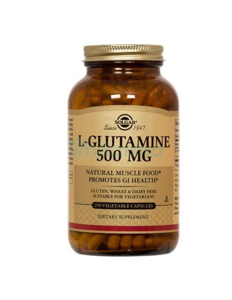 L-Glutamina 500 mg. Solgar - 250 cápsulas