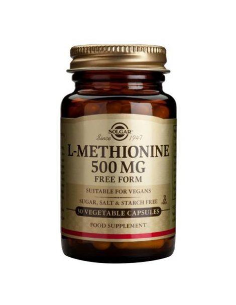 L-Metionina 500 mg. Solgar - 30 cápsulas