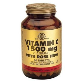 Vitamina C 1500 mg. Rose Hips Solgar - 90 comprimidos