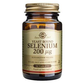 Selenio en Levadura 200 mcg. Solgar - 50 comprimidos
