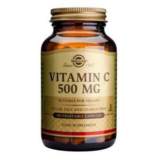 Vitamina C 500 mg. Rose Hips Solgar - 100 comprimidos