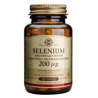 Selenio 200 mcg. Solgar - 50 comprimidos
