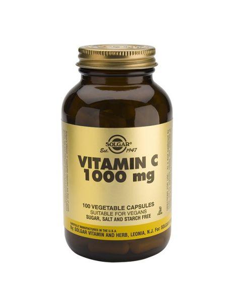 Vitamina C 1000 mg. Rose Hips Solgar - 100 comprimidos