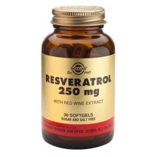 Resveratrol con Extracto de Vino Tinto Solgar - 30 perlas