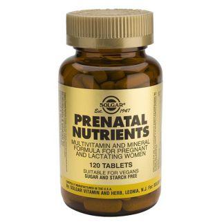 Nutrientes Prenatales Solgar - 60 comprimidos