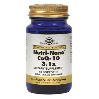 Nutri Nano CoQ 10 3.1x Solgar - 50 perlas