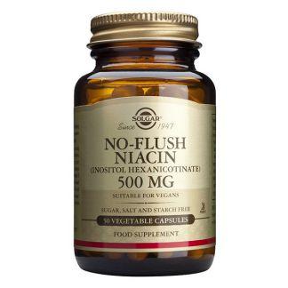 Niacina No Ruborizante Solgar - 50 cápsulas