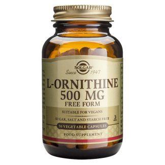L-Ornitina 500 mg. Solgar - 50 cápsulas