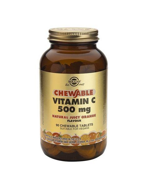 Vitamina C 500 mg. Naranja Solgar - 90 comprimidos