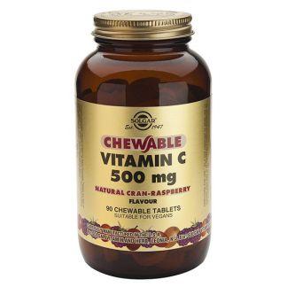 Vitamina C 500 mg. Frambuesa Solgar - 90 comprimidos