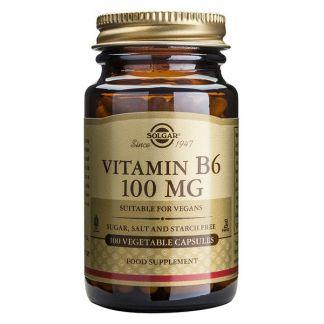 Vitamina B6 100 mg. Solgar - 100 cápsulas