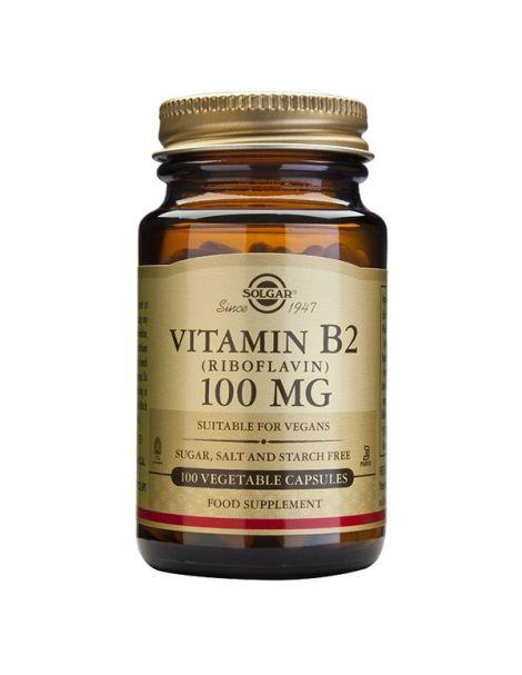 Vitamina B2 100 mg. Solgar - 100 cápsulas