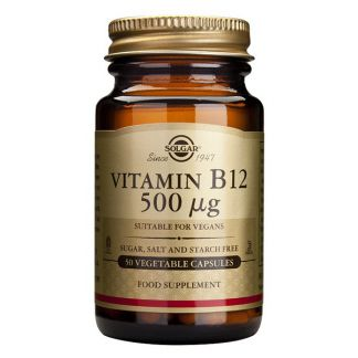 Vitamina B12 500 mcg. Solgar - 50 cápsulas