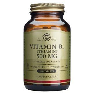 Vitamina B1 500 mg. Solgar - 100 comprimidos