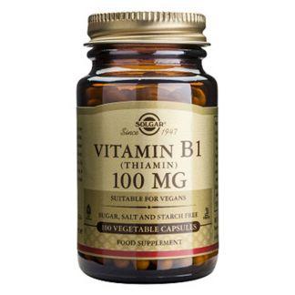 Vitamina B1 100 mg. Solgar - 100 cápsulas
