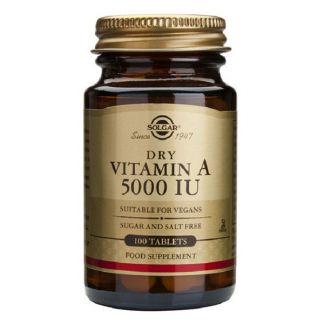 Vitamina A Seca (5000 UI) Solgar - 100 comprimidos