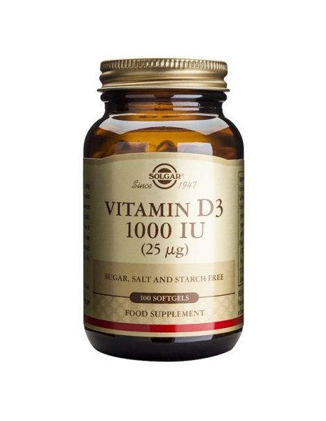 Vitamina D3 25 mcg. (1000 UI) Solgar - 100 perlas