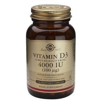 Vitamina D3 100 mcg. (4000 UI) Solgar - 120 cápsulas