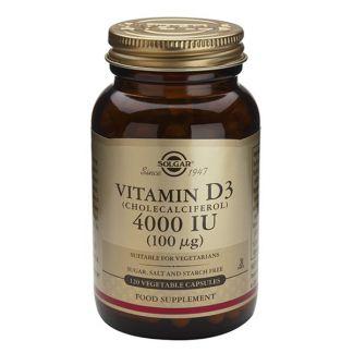 Vitamina D3 100 mcg. (4000 UI) Solgar - 60 cápsulas