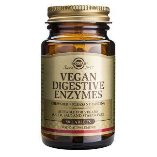 Vegan Enzimas Digestivas Solgar - 50 comprimidos