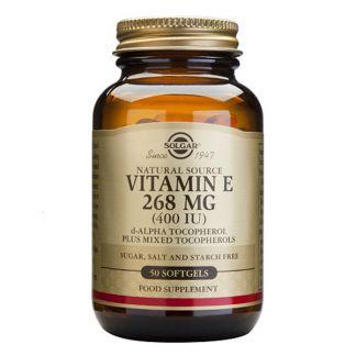 Vitamina E 268 mg. (400 UI) Solgar - 50 perlas