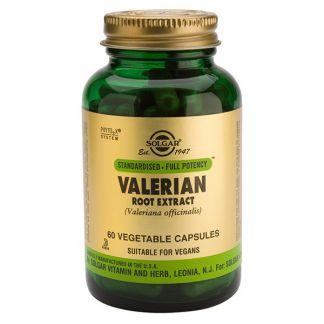 Valeriana Extracto de Raíz Solgar - 60 cápsulas