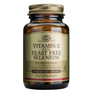 Vitamina E con Selenio Solgar - 100 cápsulas