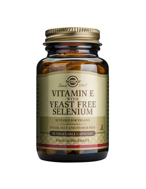 Vitamina E con Selenio Solgar - 50 cápsulas