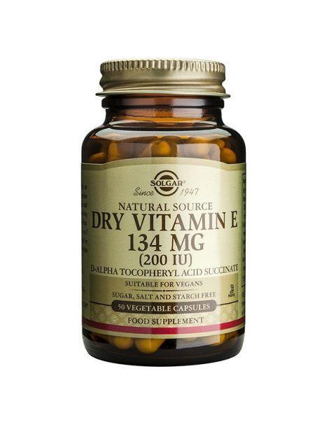 Vitamina E Seca 134 mg. (200 UI) Solgar - 50 cápsulas