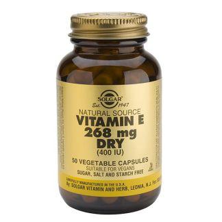 Vitamina E Seca 268 mg. (400 UI) Solgar - 50 cápsulas