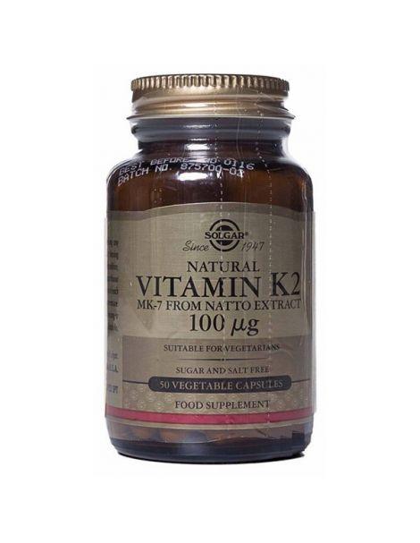 Vitamina K2 100 mcg. Solgar - 50 cápsulas