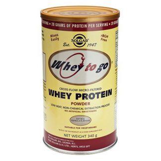 Whey to Go Proteína de Suero Vainilla Solgar - 907 gramos
