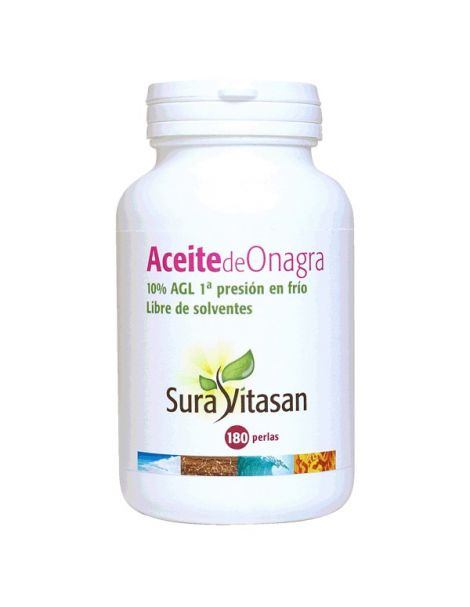 Aceite de Onagra 500 mg. 10% AGL Sura Vitasan - 180 perlas
