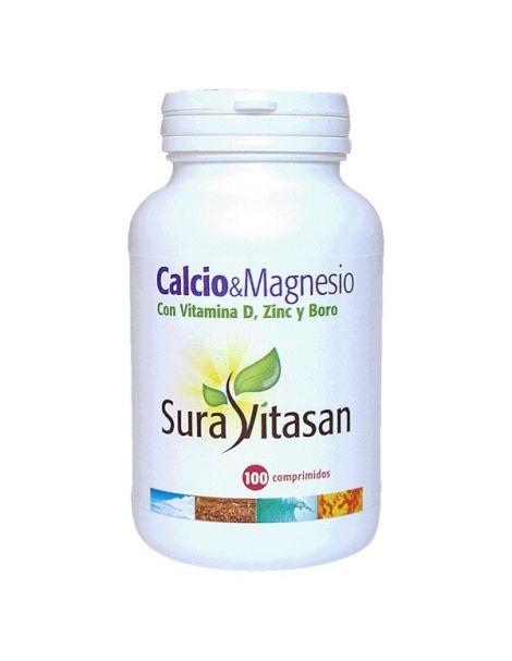 Calcio & Magnesio + D + Zinc + Boro Sura Vitasan - 100 cápsulas