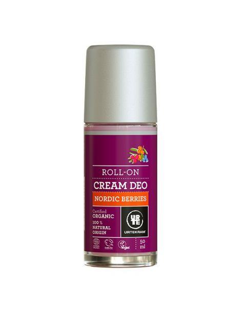 Desodorante Roll-on Frutos Rojos Nórdicos Urtekram - 50 ml.