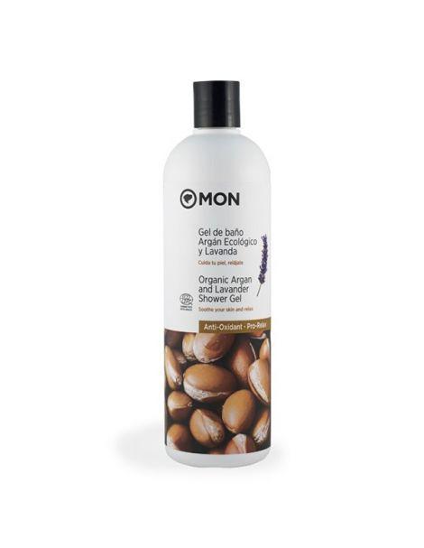Gel de Baño de Argán Ecológico y Lavanda Mon - 750 ml.