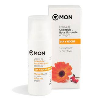 Crema Facial de Caléndula y Rosa Mosqueta Mon - 50 ml.